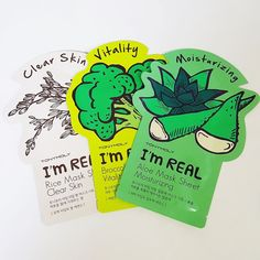 3pcs TONYMOLY I'm Real Mask Sheets Facial 3 Different Kinds Skin Care Korea 10 #TONYMOLY