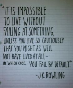so don't fail..