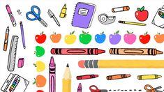 Grade My Teacher, School Teacher, Teacher Resources, Teaching Ideas, Back To School Clipart, Hand Drawn Border, Rainbow Crayon, School Border, Clips