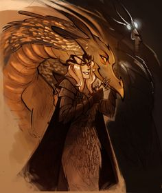 Sauron, Melkor, and Smaug the Golden fan art.  (pinner: the blondie in the front is SAURON.  Turns out Sauron was pretty freaking fabulous back in the day.)