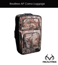 Realtree AP Camo Luggage $99.99 - Suitcases expand for added packing capacity, featuring three exterior pockets and an add-a-bag strap.  24L x 15W x 8D