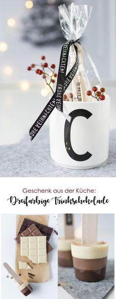 Geschenk aus der Küche: Dreifarbige Trinkschokolade