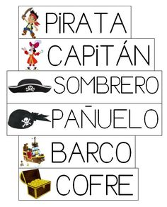 Mi grimorio escolar: VOCABULARIO PIRATA