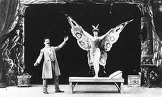 Spreading his wings … Georges Méliès in a film in which he turns a sleeping woman into a butterfly.