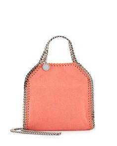 STELLA MCCARTNEY Falabella Tiny Tote, Peony Pink. #stellamccartney #bags #shoulder bags #hand bags #polyester #leather #tote #