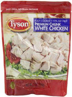Tyson Chunk Chicken Breast, 7-Ounce Pouches (Pack of 12) Tyson http://www.amazon.com/dp/B003NRMHFI/ref=cm_sw_r_pi_dp_zRnzvb0RGCSYG