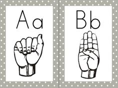ASL letters + hand sign free download.