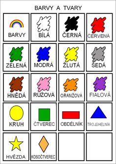 Tak TROCHU ... jiný svět: Barvy, tvary, škola - piktogramy Teaching Posts, Teaching Tips, Math For Kids, Flower Crafts, Book Activities, Montessori, Kindergarten, Preschool, Album