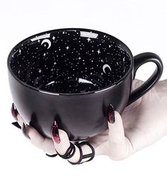 Witch Coffee Mug with Wolf Rogue Midnight Coffee Large i. Witch Coffee Mug with Wolf Rogue Midnight Coffee Large in Gift Box Cute Mugs for Women Unique Gifts Novelty Tea Cup Goth Decor - Porcelain Cute Coffee Cups, Cute Mugs, Funny Coffee Mugs, Cute Tea Cups, Big Coffee Mugs, Star Coffee, Unique Coffee Mugs, Coffee Humor, Wolf Colors