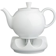 Crate & Barrel Arzberg Teapot with Warmer (130 CAD) ❤ liked on Polyvore featuring home, kitchen & dining, teapots, tea pot, white teapot, porcelain tea pot, white porcelain teapot and crate and barrel