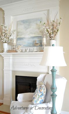 I love the picture over the fireplace.