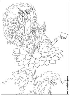 shri krishna janmashtami coloring printable pages for kids on coloring krishna art - Baby Krishna Images Coloring Pages