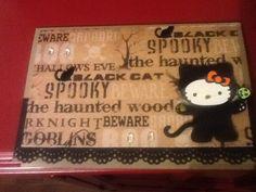 Hello kitty spooky cat card