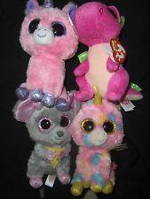 ty beanie boos 6 inch darla dragon fantasia magic unicorn squeaker mouse  lot 4 ae14e98e72e7