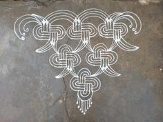 Rangoli Designs With Dots, Beautiful Rangoli Designs, Kolam Designs, Padi Kolam, Simple Rangoli, Durga, Outdoor Living, Outdoor Life, The Great Outdoors