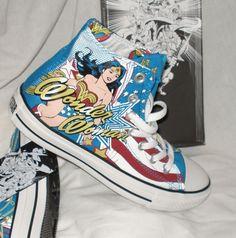 New Converse WONDER WOMAN All Star Hi Chuck Taylor DC Comics Shoes High Mens