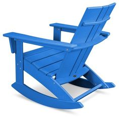Polywood St Croix Modern Rocker - Pacific Blue