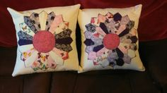 Cushions made for Teresa - single and double dresdens.