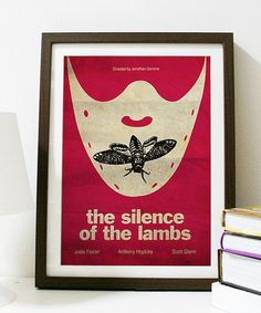 Silencio de los corderos Movie Poster A3 por Posterinspired en Etsy
