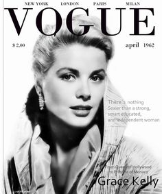 Grace Kelly Vogue cover 1962                                                                                                                                                                                 More