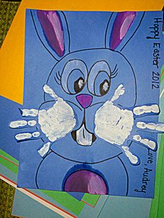 Fun easter craft diy kids handprints are the easter bunny whiskers cute easter diy handprint craft for the kids good for gifts for grandparents negle Image collections