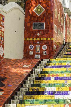 Escadaria Selaron in Rio de Janeiro, #Brazil