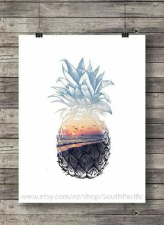 art and pineapple Bild