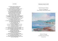 PAOLO SALVATI -  Mostra Personale Il Selvaggio anno 2003