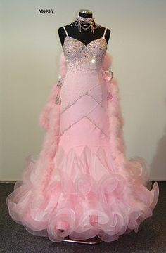 Ballroom Dance Costume. I dont really care for pink, but that is beautiful!