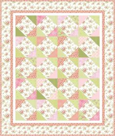 My Grammy's Rose Garden free pattern - Cohesive Scraps with Jacquelynne Steves