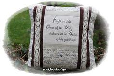 Geschenk für Oma   Vintage Kisssen Shabby von Antjes Design auf DaWanda.com