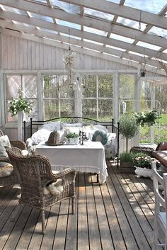 Cute Farmhouse Porch Design Decor Ideas - adolfo news Outdoor Decor, Winter Garden, House With Porch, Outdoor Rooms, Porch Design, Front Porch Ideas Curb Appeal, Shed With Porch, Sleeping Porch, Building A Porch
