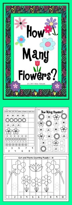 This Math unit has a Spring flower theme. There are two counting posters (1-10, 11-20) in color and two in B/W, a finger play, ... (PreK-1)