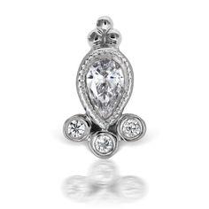 Diamond Delia Threaded Stud (Tragus)