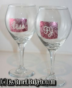 Homemade Gift Ideas - Personalized Wine Glasses