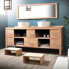 Under Sink Storage Unit Tikamoon, Under Sink Storage Unit, Solid Wood Furniture, Bathroom Furniture, Furniture, Wood Vanity, Vanity Cabinet, Cabinet, Teak Bathroom