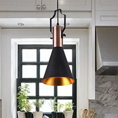 MSTAR Retro Industrial Pendant Light Black Metal Antique Pendant Ceiling Light Shade for Bar Cafe Dinning Room