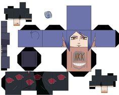konan by hollowkingking on DeviantArt Anime Crafts, 3d Paper Crafts, Paper Toys, Paper Art, Naruto E Boruto, Gaara, Anime Naruto, Akatsuki, Origami Naruto