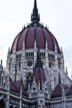 Hungary - Parliament building, Budapest.   Facts about Hungary:  Area: 93,030 sq km.  A landlocked, central European state on the River Danube.Population: 9,973,141. Capital: Budapest.  Official language: Hungarian. Languages: 17.