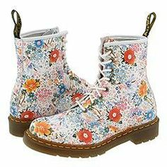 Dr. Martens 1460 W Off White Floral Boots.... Not sure I could wear them now that I'm over 25, but..... Still like 'em.  LOL