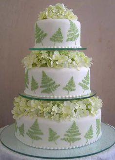 Greek Fern Wedding Cake by Maisie Fantaisie
