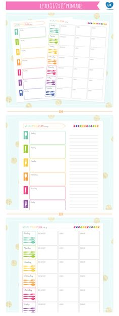 Luvibee Kids Company: MEAL PLANNER • free printable • BY LKCO