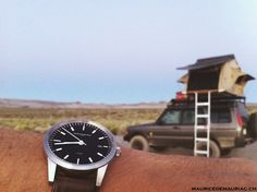 At Mono Lake with my L1 watch from Maurice de Mauriac, Swiss luxury Watchmakers. Watches for men.  http://www.mauricedemauriac.ch/