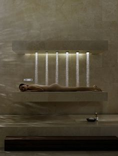 Horizontal shower by Dornbracht / Iserlohn