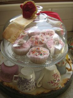 fairy cakes and tea cups