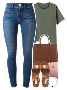 """broski "" by daisym0nste ❤ liked on Polyvore featuring Prada, Steve Madden, Frame Denim, women's clothing, women's fashion, women, female, woman, misses and juniors"