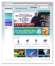 New website design and online store for Wiltshire based Keratex, the world renowned hoofcare experts.