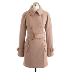 J.crew Petite Stadiumcloth Boulevard Trench in Pink (hthr stone)