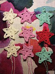 Ravelry: Glittery Crochet Stars in 2 Rounds pattern by Tamara Kelly