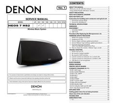 Denon avr x1200w s710w av receiver service manual and repair guide denon heos 7 hs2 wireless speaker system original service repair and technical troubleshooting manual fandeluxe Gallery